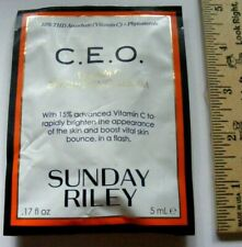 SUNDAY RILEY CEO VITAMIN C BRIGHTENING FACE SERUM .17 OZ ANTI-AGING FIRM YOUTH