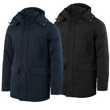 Giacca Uomo Invernale Blu Nera Cappuccio removibile Giubbotto Cappotto M a 4XL