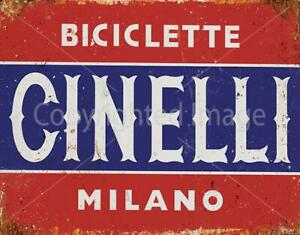 CINELLI MILANO VINTAGE RETRO CYCLING METAL TIN SIGN POSTER WALL PLAQUE