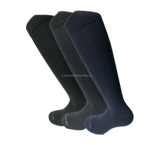 6 PAIA calze calzini UOMO LUNGHE caldo cotone ELASTICIZZATE invernali CALDE dark