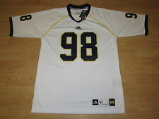 Authentic Michigan Wolverines #98 Away White Football Jersey size Men's 52 XL