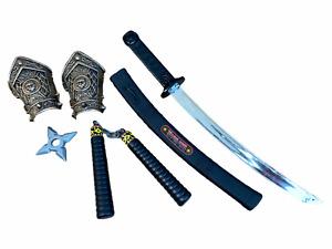 Plastic Kids Ninja Sword Toy Weapons Set Teenage Ninja Fancy Dress Accessory