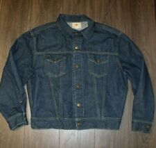Vintage Flying R Ranchwear  Denim Jacket Estimated L-XL Dark Wash Trucker