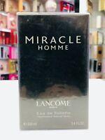 Lancôme Miracle Homme Eau De Toilette Spray For Men 3.4 oz * Discontinued *