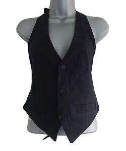 CURRENT/ELLIOT+Charlotte Gainsbourg Womens 4 Button V-Neck Suit Vest.Size 2,UK10