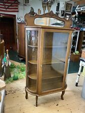 Antique Oak China Cabinet 37� Wide 68�tall 13� Deep