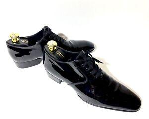 Tom Ford Black Patent Tuxedo Dinner Leather Shoes Size 42,5, UK-8,5, US-9,5TT