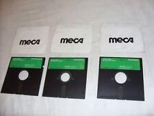 "Meca Managing Your Money Demo Diskettes 5.25"" Apple II 1985 vintage software"