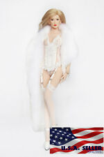 1/6 Women Clothes Faux Fur Wrap Shawl Cape For PHICEN Hot Toys Female Figure USA