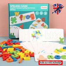 Wooden Letter Spelling Recognition Games Kids Education Alphabet Cardboard Game�