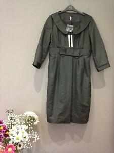 Topshop long jacket mink size 12 new Rrp £99