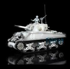 2.4G Henglong 1/16 Snow 6.0 Upgraded M4A3 Sherman Rtr Rc Tank 3898 Metal Tracks