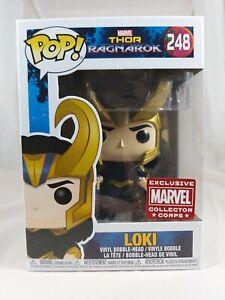 Marvel Funko Pop - Loki - Thor Ragnarok - Collector Corp - No. 248