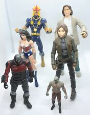 Marvel DC Star Wars Wonder Woman Lex Luther Drax Jyn Erso Nova Action Figure Lot