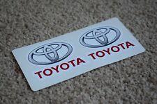 Toyota TRD Car Motorsport Race Racing Helmet Decal Stickers Grey Red 50mm