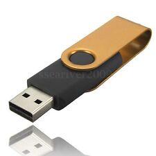 32GB Swivel USB 2.0 Flash Memory Stick Pen Drive Data Storage Thumb U Disk Gold