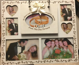 "Wedding Rings Metal Flip ""To Have And To Hold"" (Holds 60 4x6  Photos)"