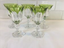 6 verres à vin en cristal. METTERNICH cp vert. H:135 mm  Val Saint Lambert