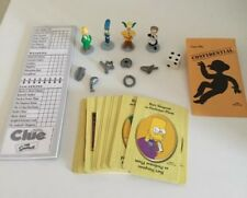 THE SIMPSONS CLUE game Board And Almost Complete Game Pieces - Free Shipping