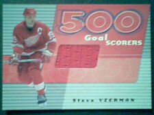 STEVE YZERMAN  AUTHENTIC PIECE OF A GAME-USED JERSEY CARD / 30 SP