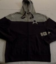 Dallas Cowboys Full Zip Jacket Hooded Large Two Tone Gray Cool Logos Hoodie NFL