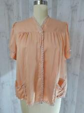 1950s Vintage Peachy Pink Camisole Babydoll Negligee Lingerie Lace Teddy Xs/S