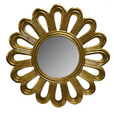 """Wall Mirror Wooden Frame Gold 35.5""""-Decorative Wall Decor -Wall Mirror -Accent"""