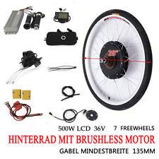 28 Zoll LCD Elektrofahrrad Umbausatz Hinterrad E-Bike Conversion Kit 36V 500W