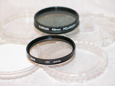 2 filters, 49mm POLARIZER & SKYLIGHT (1A) (LA+10) FILTERS W/CASES
