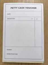 A6 (105 X 148MM) Petty Cash Voucher Pads. 50 X 3 PART SETS Per Pad