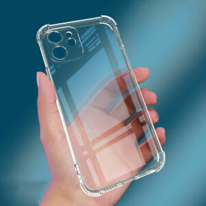 Shockproof Clear thin Soft Case Slim Cover For iPhone 13 12 Pro Max XS XR 8 Plus