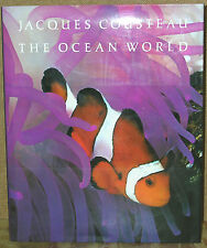 Jacques Cousteau: The Ocean World-1985 Edition/Dust Jacket-Illustrated