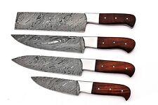Custom Hand made Damascus Steel Kitchen / Bbq / Chef Knives 4 Pcs.Set Fr-2001106