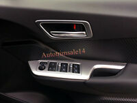 ABS Matte Inner Door Handle Bowl Cover Trim 4pcs For Toyota C-HR CHR 2016-2018
