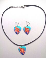 Guitar Pick Earings and Necklace