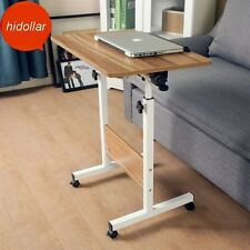 ADJUSTABLE TILTABLE MOBILE OVERBED TROLLEY TABLE LAPTOP IPAD STUDY HOSPITAL DESK
