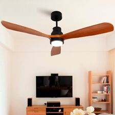 Wooden Ceiling Fans Without Light Bedroom 220v Ceiling Fan Lights Remote Control