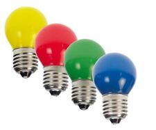 20er Set LED Tropfen bunt gemischt Glühlampe E27 1W Lichterkette 230V  #20