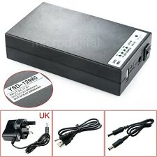 DC 5V/12V 2 In 1 USB Rechargeable 20000Mah Li-ion Battery Pack UK Adapter