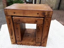 Rustic chunky nest of tables Tudor oak