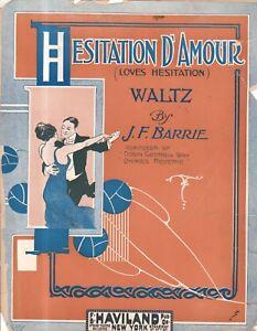 1914 Hesitation D'Amour Waltz by J.F. Barrie - Pfeiffer art