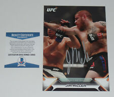 JIM MILLER SIGNED AUTO'D UFC 2016 TOPPS KNOCKOUT 5X7 CARD #/49 BAS COA 100 200
