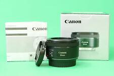 Canon EF 50 mm F1.8 STM autofocus primes lentille avec avant et arrière Lens CAPS & Boîte