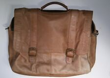 Vintage Leather Briefcase Satchel Messenger Bag Light Brown Made In India