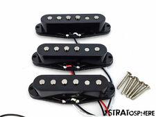 * NEW Alnico 5 for Fender Stratocaster PICKUP SET Strat Pickups Black Covers