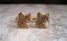 Handmade Antique Gold Brass Squirrel Cuff Links