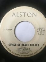"RARE Northern Soul Promo 45/ Betty Wright ""Circle Of Heart Breaks"" Clean Hear"