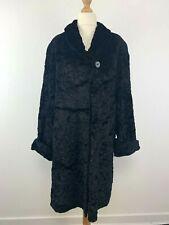 Negro De Mujer Contemporary cálido abrigo largo longitud tamaño mediano UK