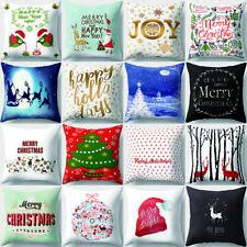 Christmas Style Throw Pillow Case Sofa Waist Cushion Cover Home Car Decor Novel
