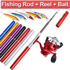 Mini Telescopic Portable Pocket Fish Aluminum Alloy Pen Fishing Rod Pole Reel